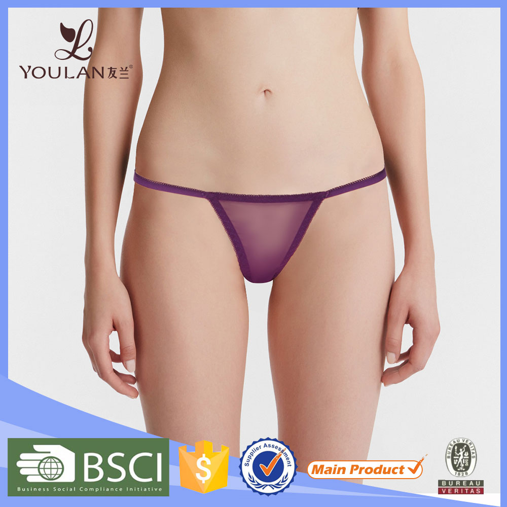 China Noble And Elegant Transparent Elastic Comfortable Thong