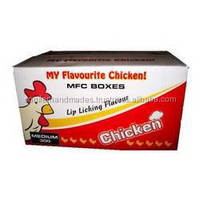 recycled paper logo printed boxes suitable for packaging fried fast food chicken