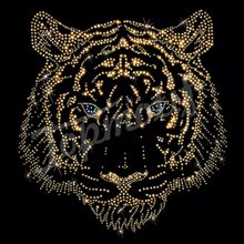 Hot Sale Bling Animal Rhinestone motif Tiger Transfers Customized Appliques