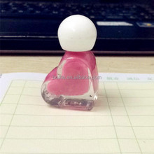 5ml heart shaped gel nail polish glass bottle with brush and cap