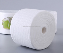 Dot spunlace nonwoven soft towel roll