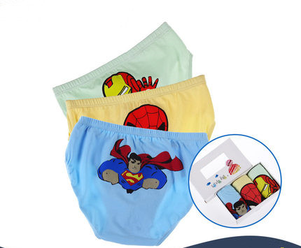 Comfortable men underwear for cute kids underwear childern .superman pattern printed boy briefs