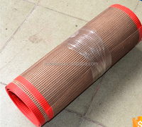 heat and chemical resist textile fiberglass mesh dryer conveyor belt