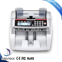 Money Counter with UV MG Detection;automatic high speed currency counter;note counter