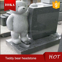 low price granite teddy bear headstone