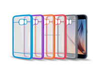 High quality PC + TPU Clear Transparent case cover for Samsung Galaxy S6