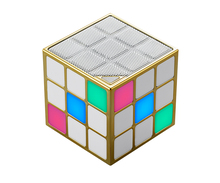 Wholesale bluetooth speaker with reasoanble price led light portable wireless magic cube bluetooth mini speaker