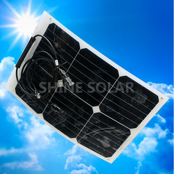 18w Hot sell low price light weight flexible solar panels monocrystalline