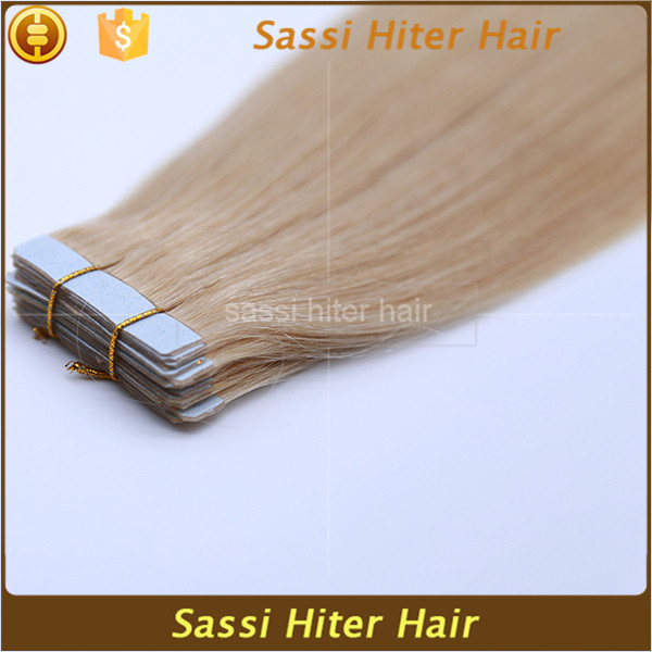 2016 alibaba express hot new products virgin pu skin weft hair