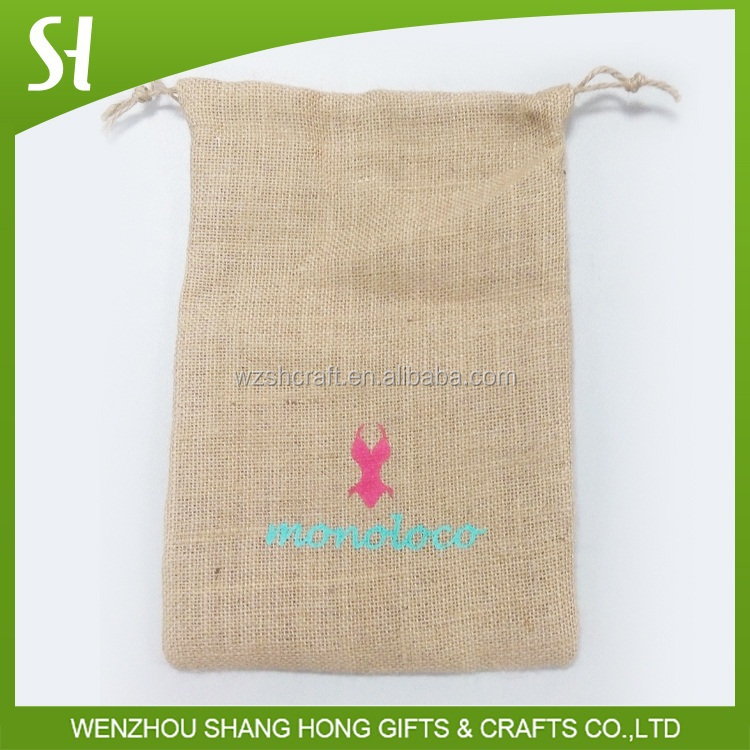 hot stamping price jute gunny bags/jewelry pouch for girls