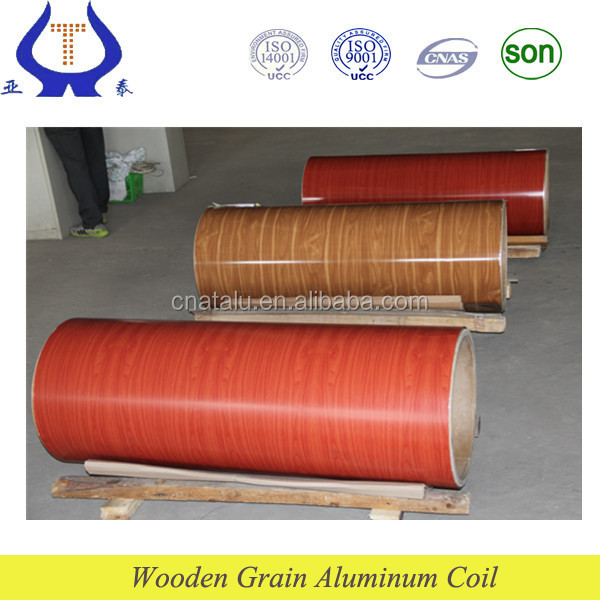 top quality wooden patterned aluminum foil roll for roof