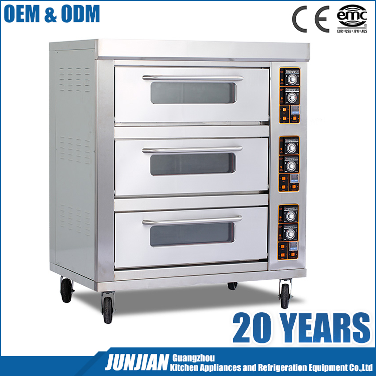Kitchen equipment electric baking oven / CE approved stainless steel bakery oven convey oven