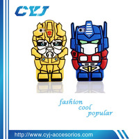 2014 new arrival cute phone case for iphone5s phone with 3d transformers
