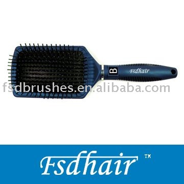 Shiny rubber finishing hair brush