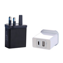 Wholesale Mobile Phone Accessories USB And Type-C 2 USB 3.4A 17W Output For iPhone For Samsung