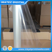 Waterproof 100 Micron Transparent Clear PET Eco-Solvent Inkjet Film