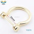 YHD the cheapest wholesale new design D/O ring for key,leather bag/luggage/case/backpack accessory