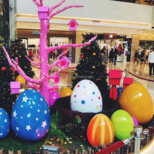 big size Easter egg decorations indoor fiberglass festival egg decoration