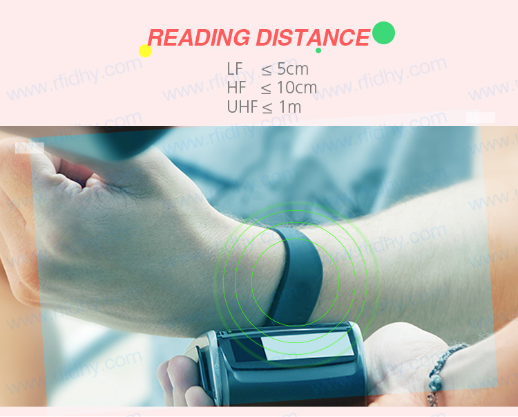 HYWGJ11 Hot Selling Ntag213 NFC Adjustable Silicone Bracelet