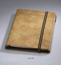 Leather 80 Light yellow or white pages wholesale notebook manufacturer factory make