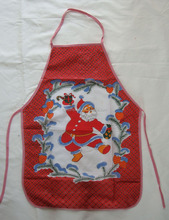 personalized 100% cotton printed kids apron with pattern