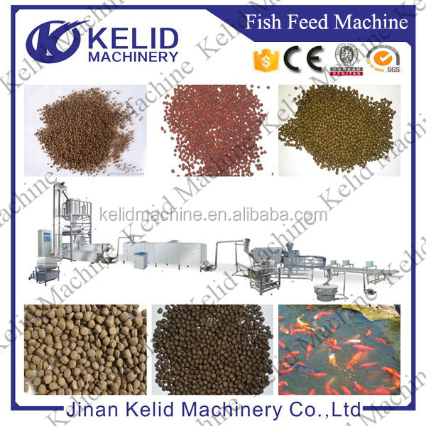 1 - 2 ton CE automatic floating fish feed pellet mill extrusion machine