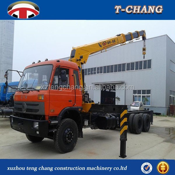 1 ton mini china new small hydraulic mobile knuckle /folding boom lorry truck mounted crane