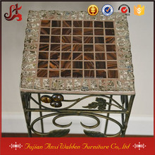 Metal Garden Table Plant Stand With Mosaic Top
