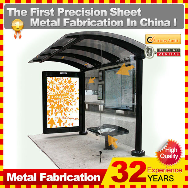 coated polycarbonate solid sheet solar bus stop with 31 years experience
