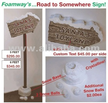 Foamway Road Sign Prop