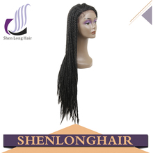 Shenlong Hair High Quality Hand Made Braided Lace Synthetic Wig, Synthetic Lace Front Box Braid Wig