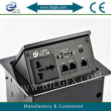 Connection box with usb hdmi and rca bnc and 3.5 audio rj45 vga wiring box multimedia