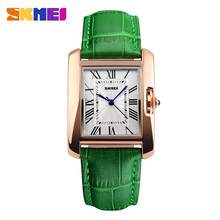 Promotional Gold Rose Green Color Strap Fashion Brand Alloy Quartz Ladies Girl Women Wrist Watch