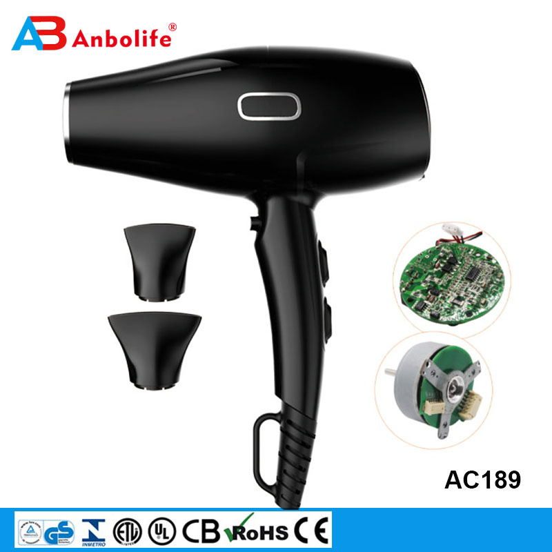 Anbolife 2000W Professional brushless motor Powerful Fast Dry Blow Dryer Ionic generator Hair Dryer
