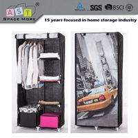 Promotion quality new coming non-woven wardrobe designs india
