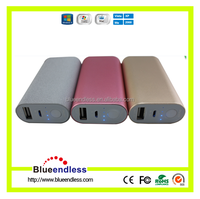 Blueendless Powerful Portable Back-up Battery Aluminum Case 7800Mah Power Bank