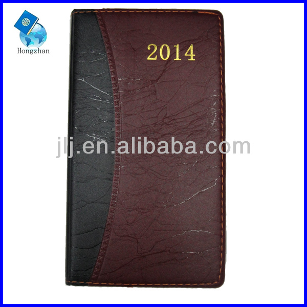 leather notebook with pen holder