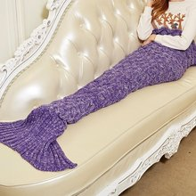 2017 New Bedding Outlet Throw Blanket Handmade Mermaid Tail Blanket