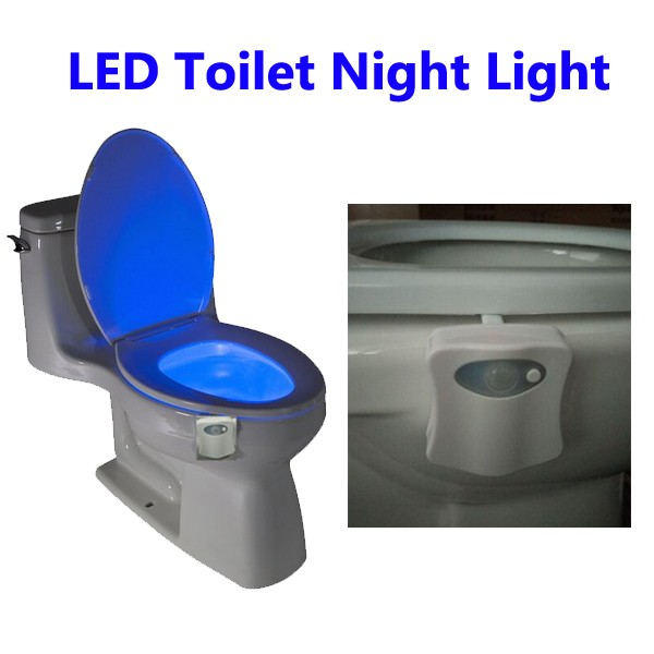 Motion Activated Color Changing LED Toilet Bowl Night Light