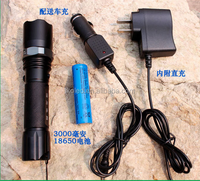 High quality strong power rechargeable led flashlight/usb rechargeable torch