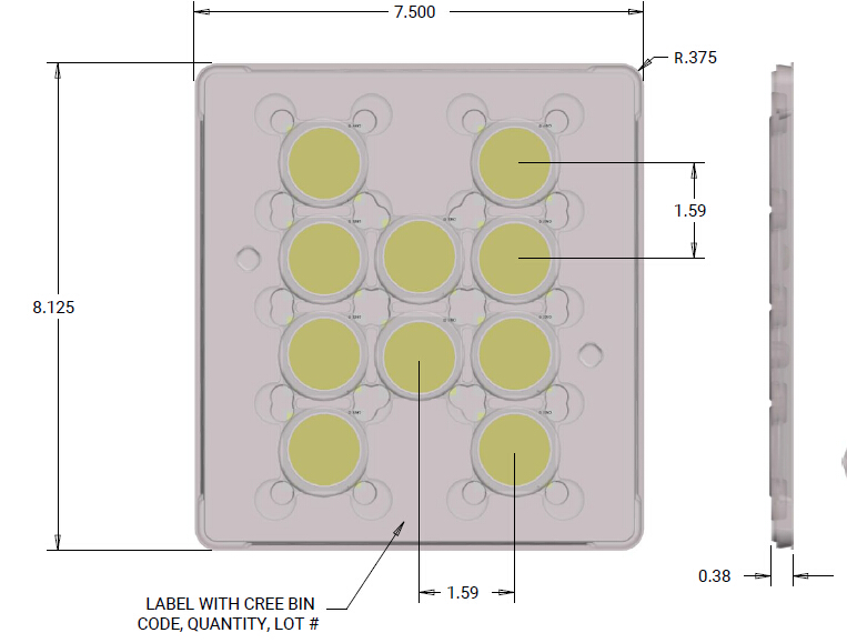 Distributor of Original XLamp cxb3590 Led Chip 3500k CD bin 36v 72v Chip Led