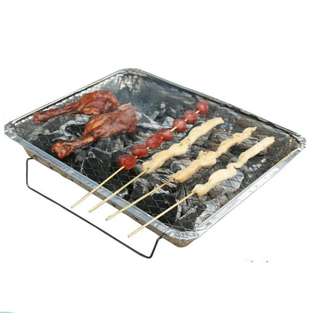 Disposable portable type charcoal barbecue set bbq grill