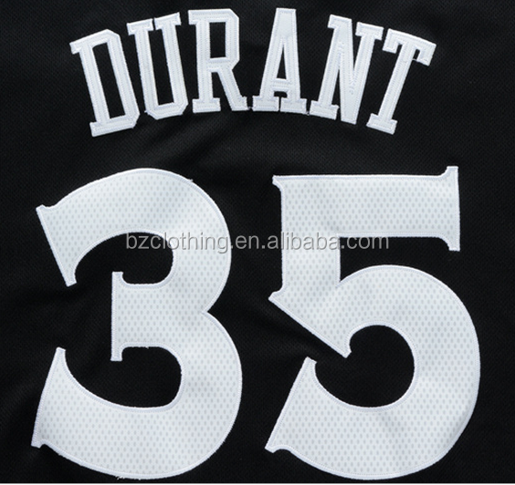 Golden State Kevin Durant #35 Black Sleeves Stitched National Basketball Jerseys