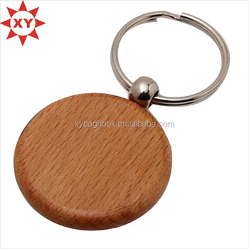 Round shape wood ring engrave logo for promotion