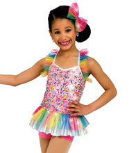 2016 New !!- colourful kids sequin body rainbow ruffles short tutu dress