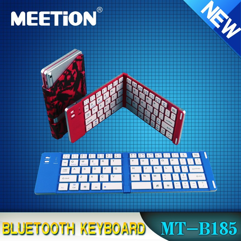 Bluetooth Folding Keyboard for Galaxy Tab iPhone iPad Tablet PC etc with Bracket