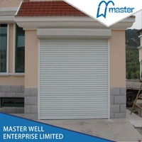 High Speed Automatic Roller Garage Door of 77mm Aluminum Slat