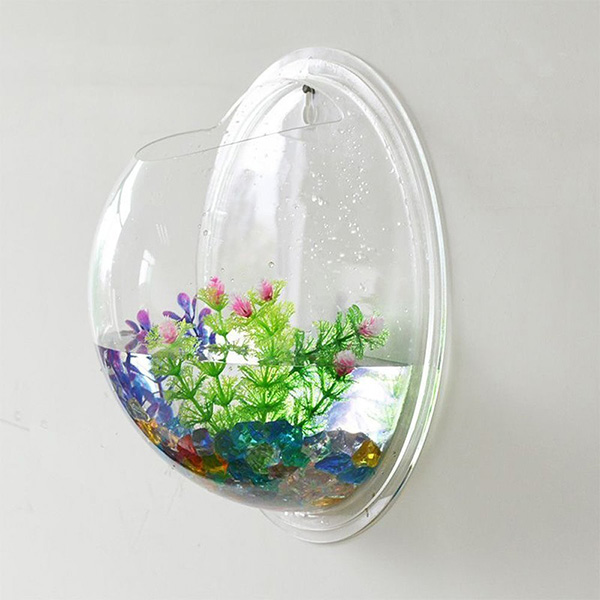 Fish Bubble Wall Mounted Acrylic Plastic Perspex Fish Bowl