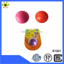 Pet toys hard smooth natural rubber hollow ball toy