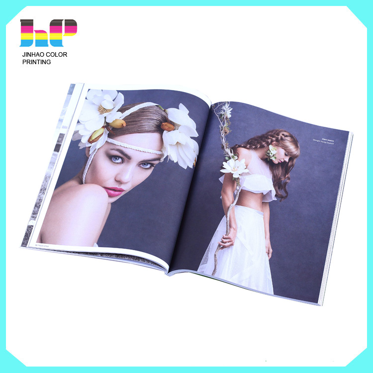 coated paper magazine printing with art paper custom cheap coloring magzine